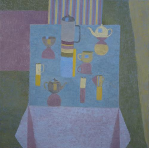 Blue Table 2016 Oil on Canvas 90x90cm