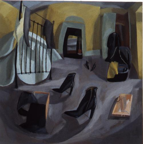 Bedroom 2 1999 Oil on Canvas 30x30cm