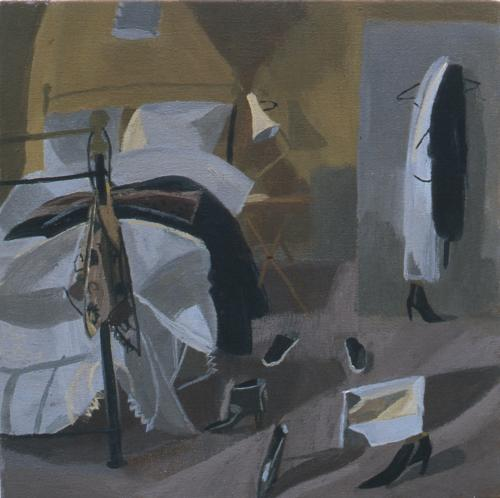 Bedroom 1 2000 Oil on Canvas 30x30cm