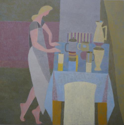 Blue Table 2014 Oil on Canvas 106x106cm