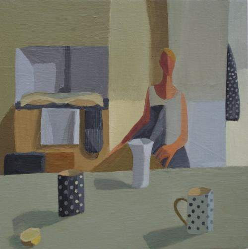 By the Aga1 2015 Oil on Board 20x20cm