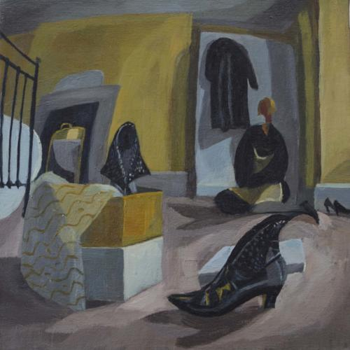 Gina Shoes 1995 Oil on Canvas 30x30cm