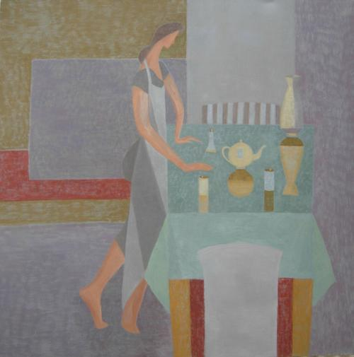 Green Table 2010 Oil on Canvas 122x122cm