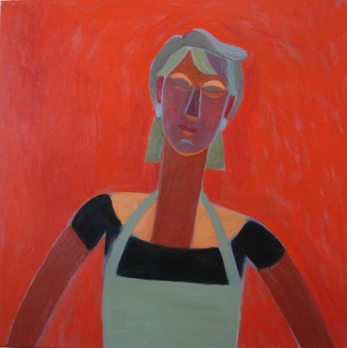 Hot Head 2012 60x60cm