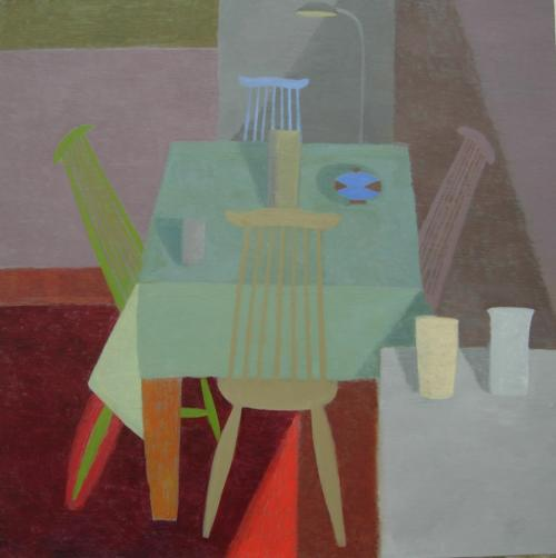 Large Coloured Chairs 2013 Oil on Canvas 90x90cm