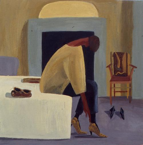 Leopard Skin Shoes 1997 Oil on Canvas 122x122cm