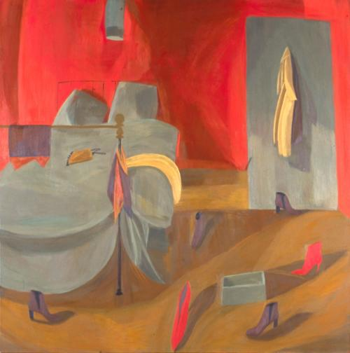 Red Bedroom 2002 Oil on Canvas 122x122cm