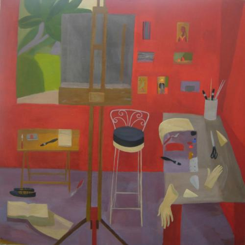 Red Studio 2005 Oil on Canvas 122-x122cm