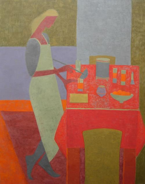 Red Table 2009 Oil on Canvas 122x96cm