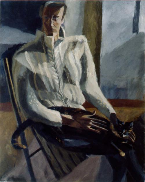 Self Portrait with Newton 1983 Oil on Canvas 122x96cm