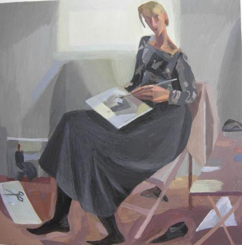 Self Portrait Study 4 2011 20x20cm