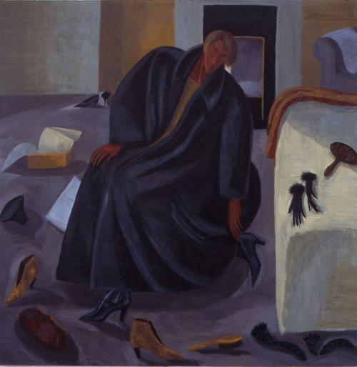 Smart Black Boots 1995 Oil on Canvas 152x152cm