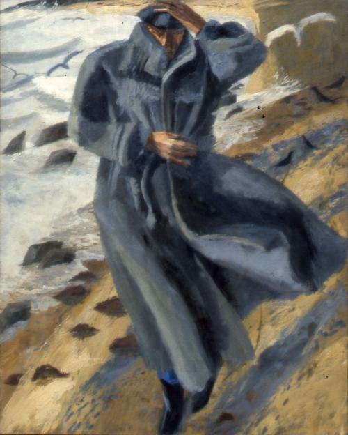 Walking on the Beach 1983 Oil on Canvas 122x96cm