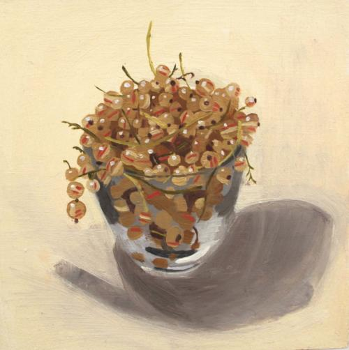 White Currants 2013 Oil on Board
