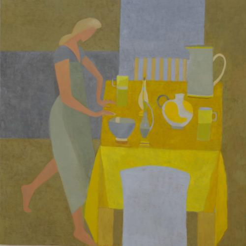 Yellow Table 2016 Oil on Canvas 90x90cm