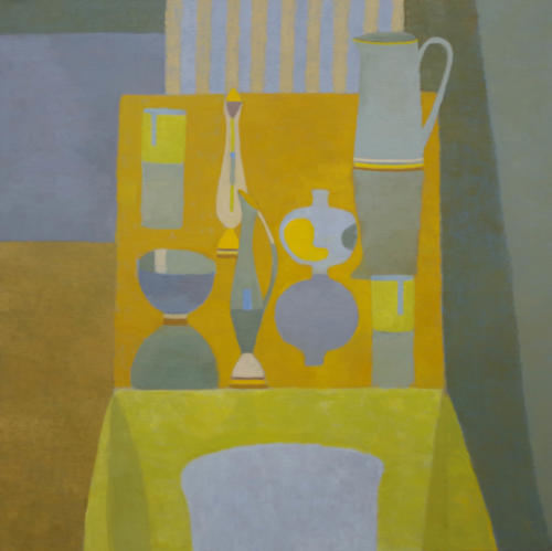 Yellow Table 2018 Oil on Canvas 91x9cm